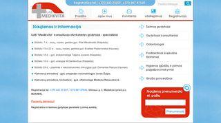 Medikvita, UAB webpage